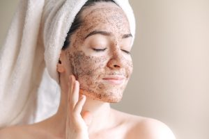 Spa,Mask,At,Home,,Young,Woman,With,Towel,On,Her